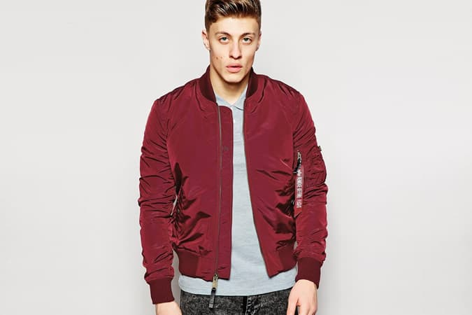 Alpha Industries MA-1 Bomber Jacket in Slim Fit
