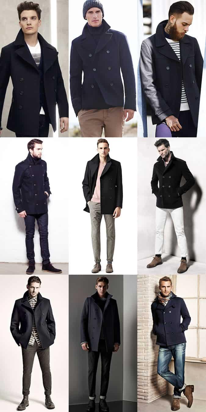 Men S Pea Coats Outfit Inspiration Lookbook