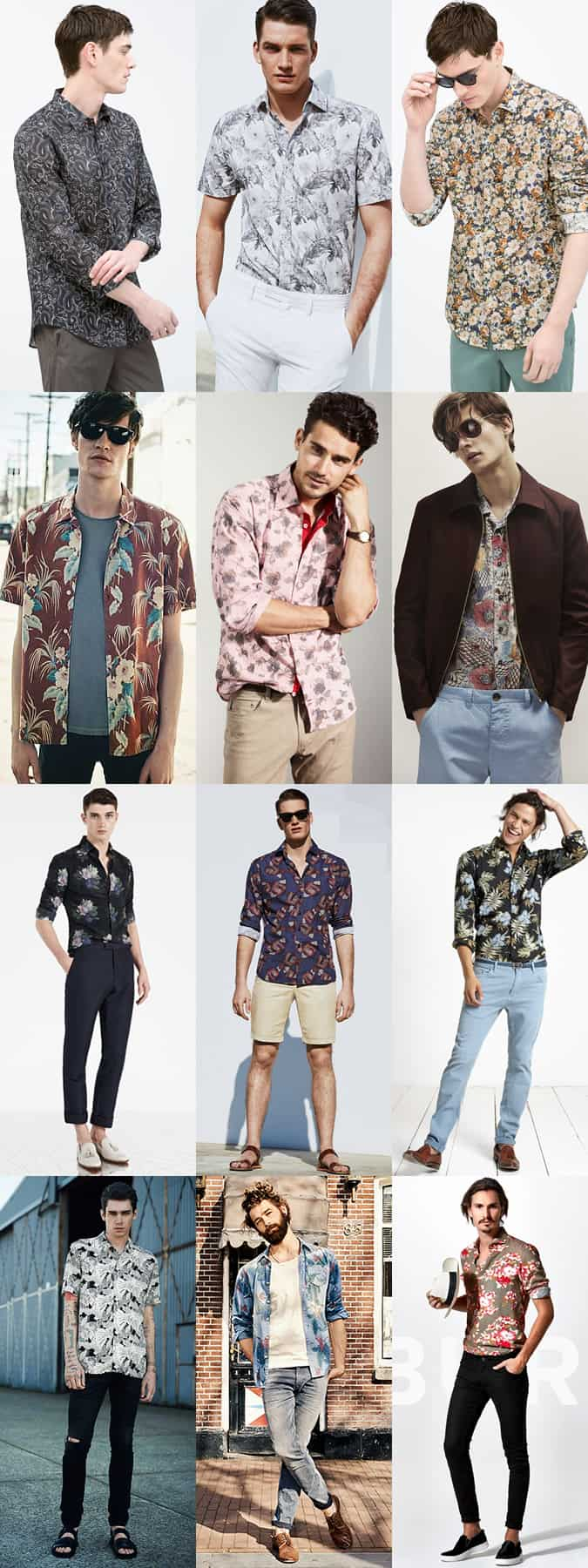 Men's Floral & Paisley Print Shirts Outfit Inspiration Lookbook