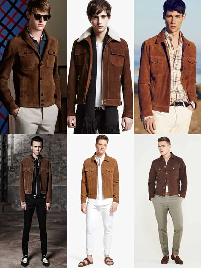 Men's Brown and Tan Suede Jackets Bohemian Outfit Inspiration Lookbook