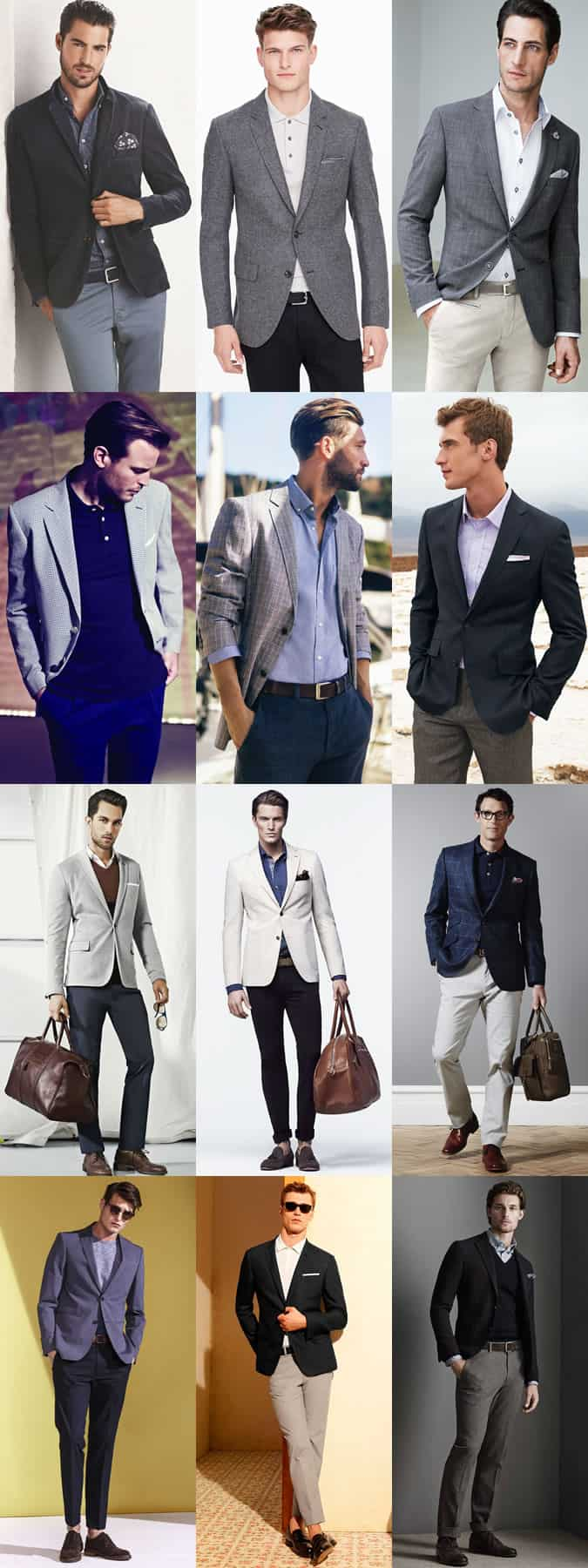 ff2e1c293e Men s Business-Casual Outfit Inspiration Lookbook - Blazers Mixed With  Oxford Shirts