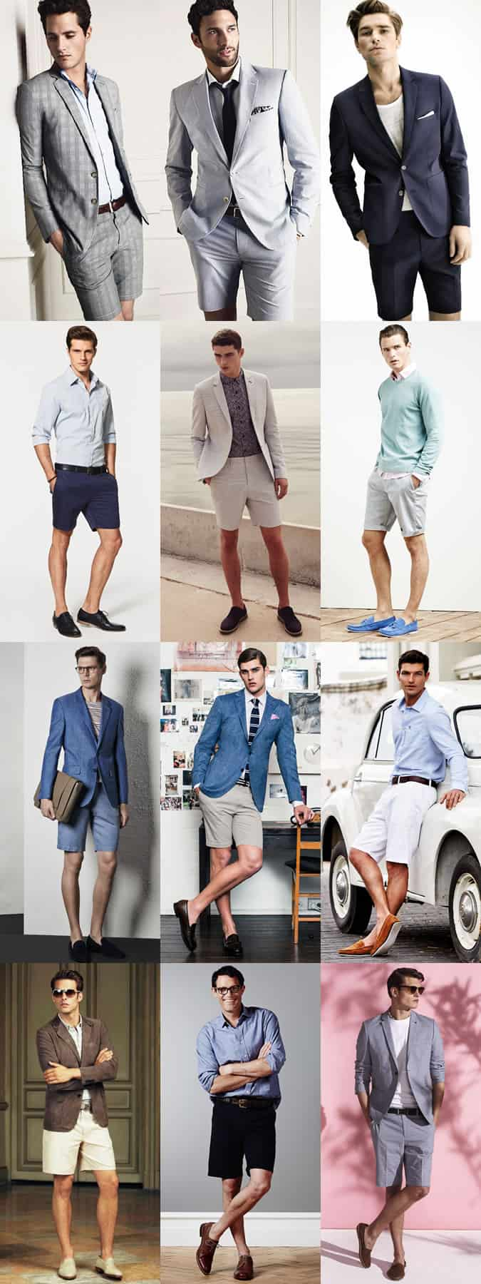Men's Tailored Shorts and Shorts Suits - Casual Friday Outfit Inspiration Lookbook