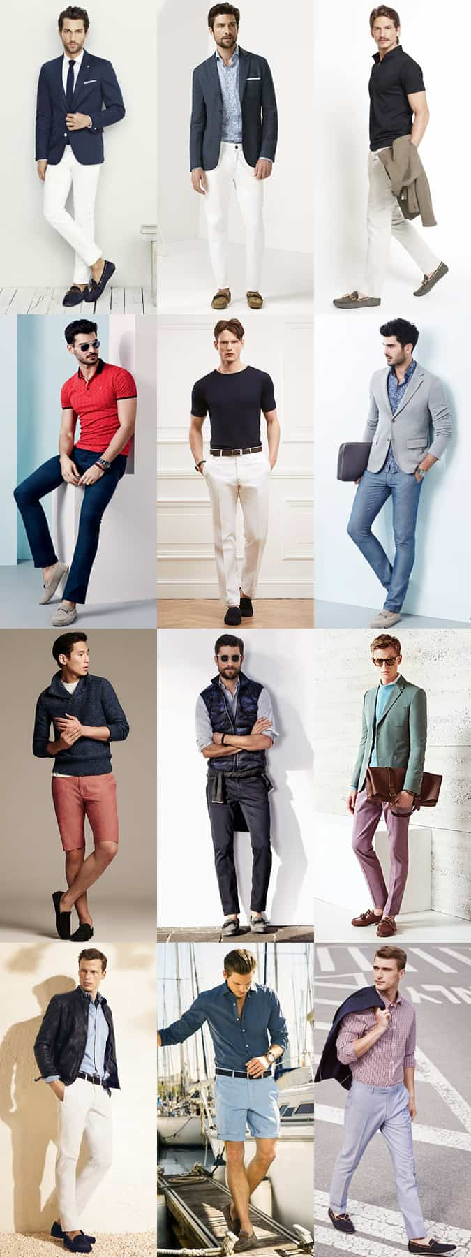 Men's Driving Shoes Outfit Inspiration Lookbook