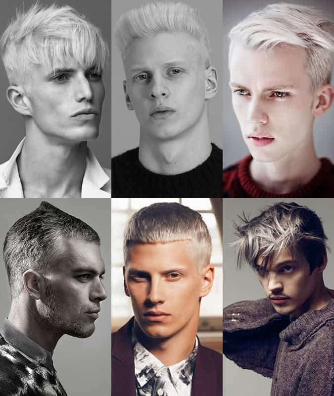 Young Men With Dyed Grey or White Hair
