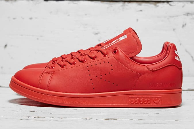 Adidas x Raf Simons Red Mono Stan Smith Trainers