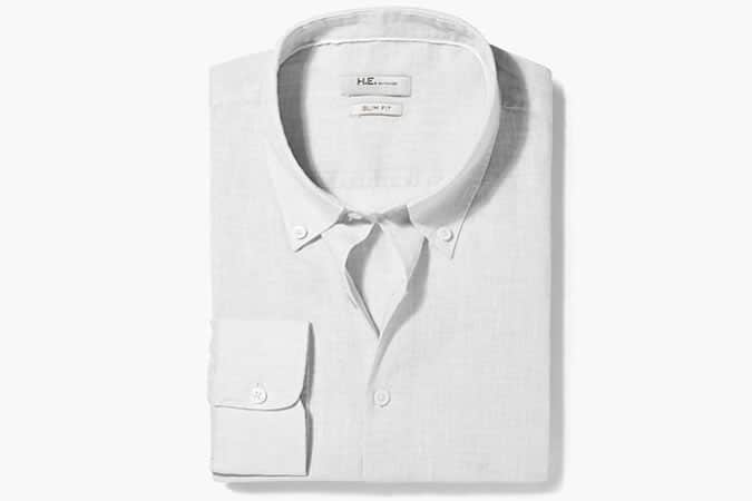 Mango Slim-Fit Linen Shirt