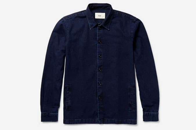 FOLK DENIM SHIRT JACKET - Click To Buy