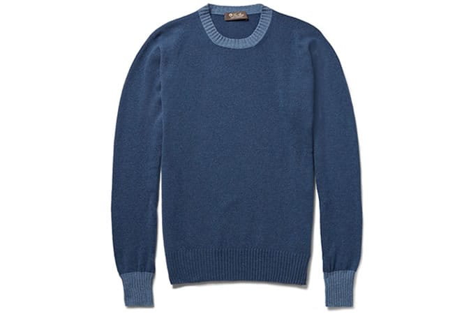 Loro Piana Contast-Trim Baby Cashmere Sweater