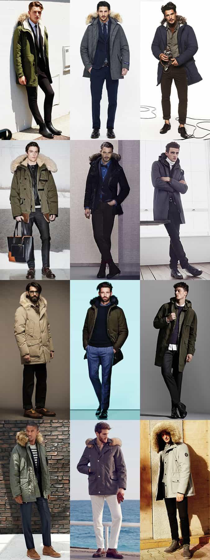 Men's Parka Jackets Outfit Inspiration Lookbook