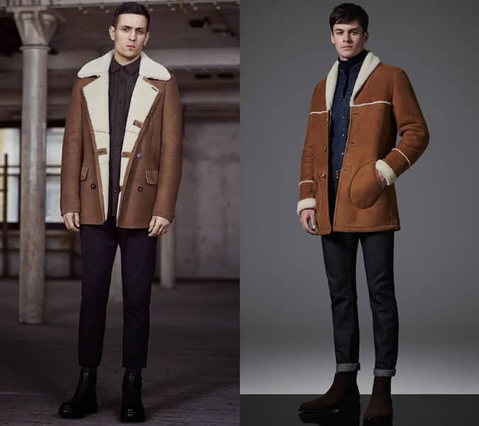 Men's Long Shearling Jackets Outfit Inspiration Lookbook