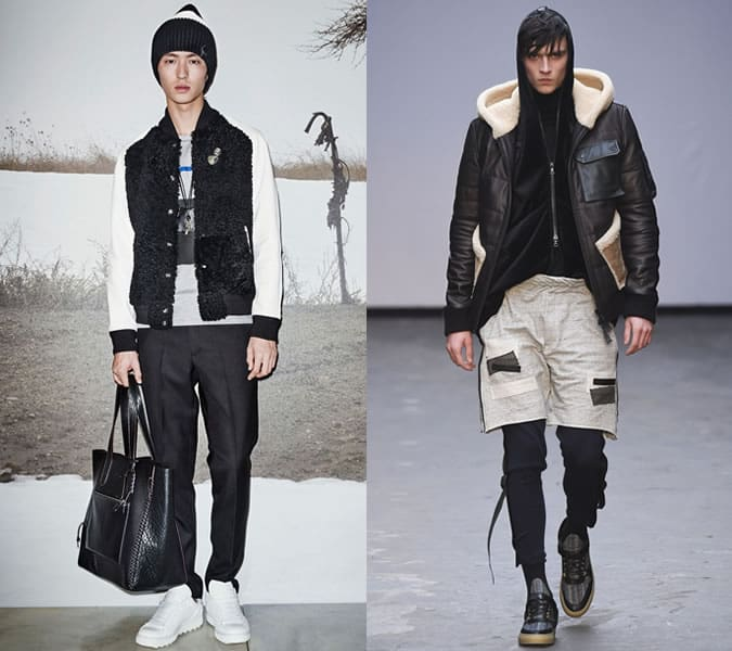 Sporty Shearling Jackets and Hoodies On James Long And Coach AW15 Runways