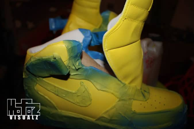 Mofoz Visualz Spray Paint Trainers Tutorial