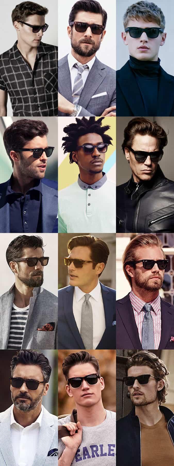 Men's Wayfarer Sunglasses Lookbook