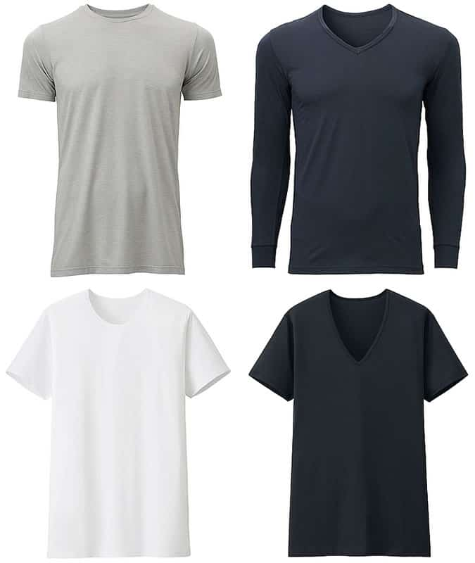 Uniqlo AIRism and HEATTECH Men's Clothing