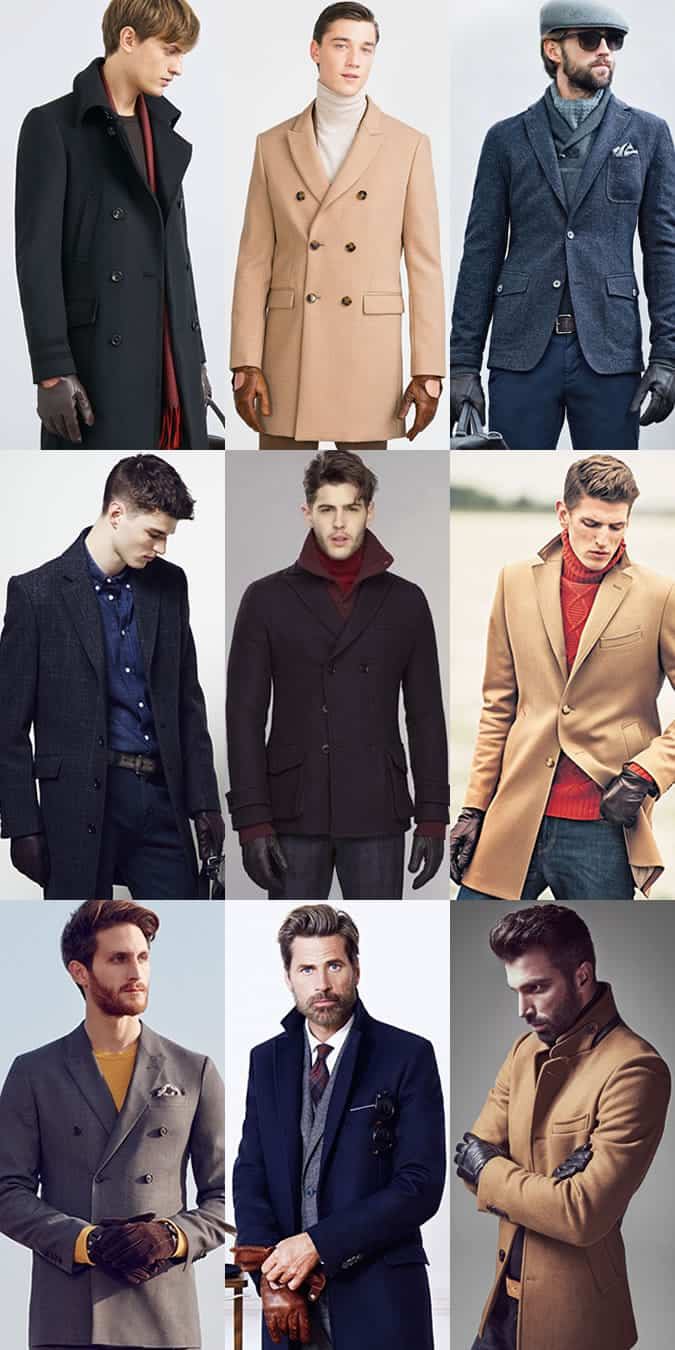 Men's Leather Gloves Outfit Inspiration Lookbook