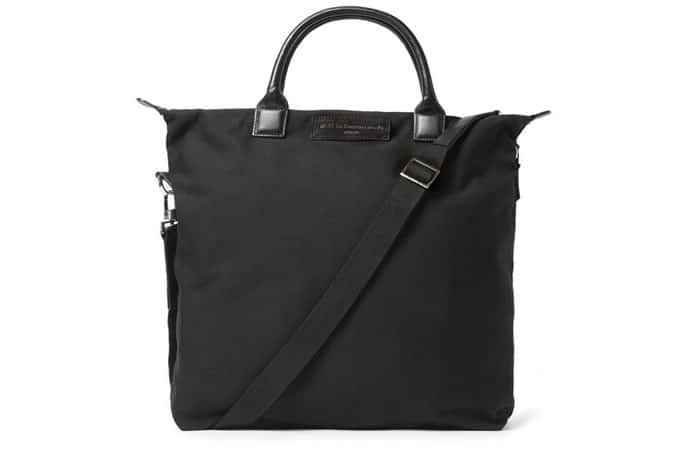 WANT LES ESSENTIELS DE LA VIE O'HARE LEATHER-TRIMMED ORGANIC COTTON-CANVAS TOTE BAG