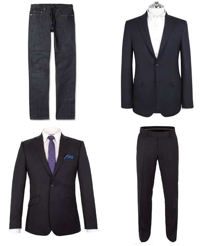 Men's Dark Coloured Tailoring and Chalk Stripe Suits