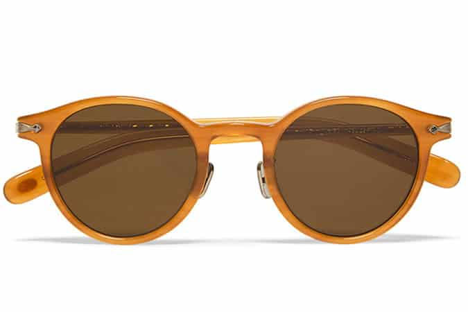 Eyevan 7285 Round-Frame Acetate Polarised Sunglasses