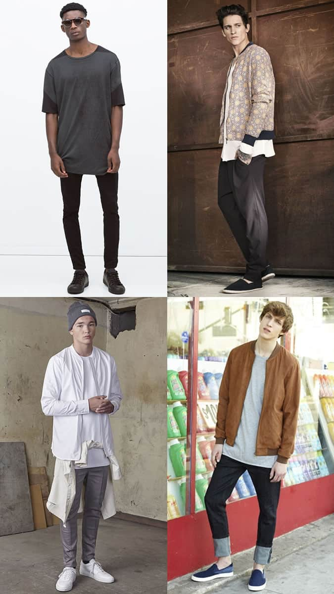 Men's Fashion & Style - Longline T-Shirts Outfit Inspiration Lookbook