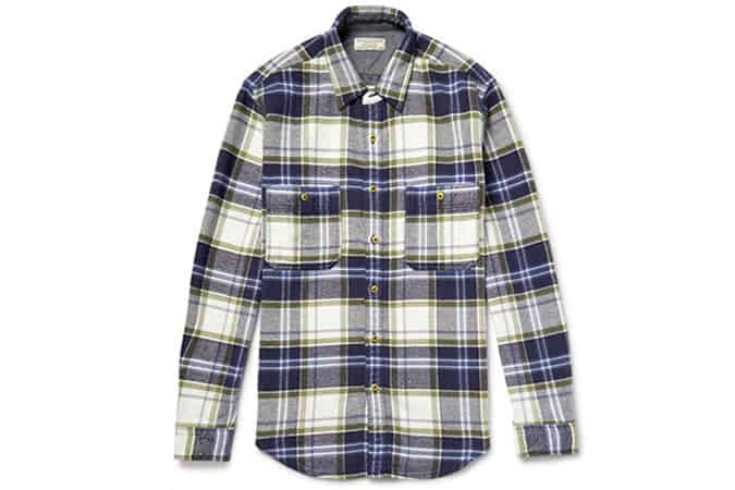 J.Crew Wallace & Barnes Ennis Checked Cotton-Flannel Shirt