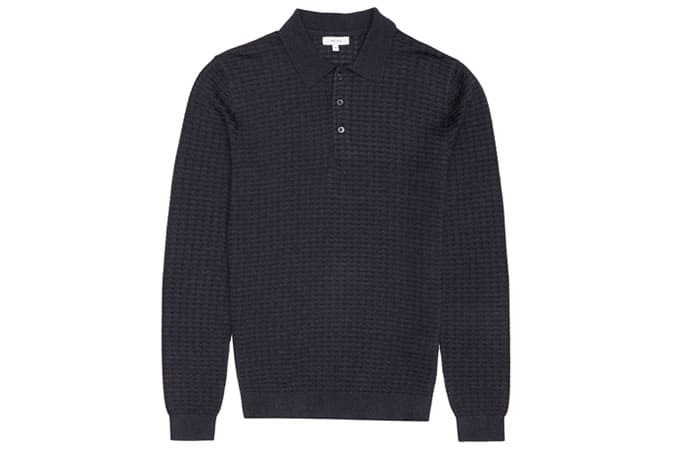 Reiss Mountain Textured Polo Shirt