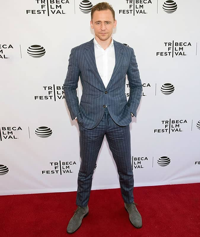 Tom Hiddleston Pinstripe Suit