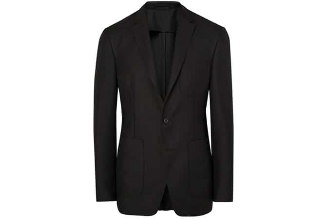 Burberry London Black Slim-Fit Mohair Hopsack Blazer