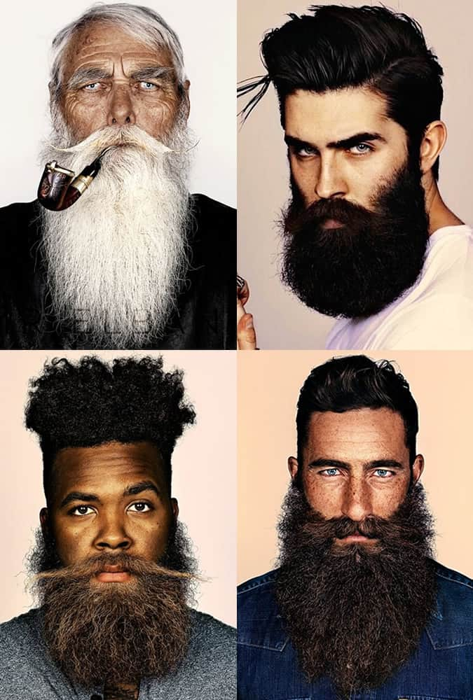 Men's Bushy, Long and Unruly Beards