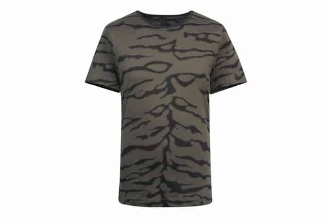 GREY ZEBRA PRINT T-SHIRT