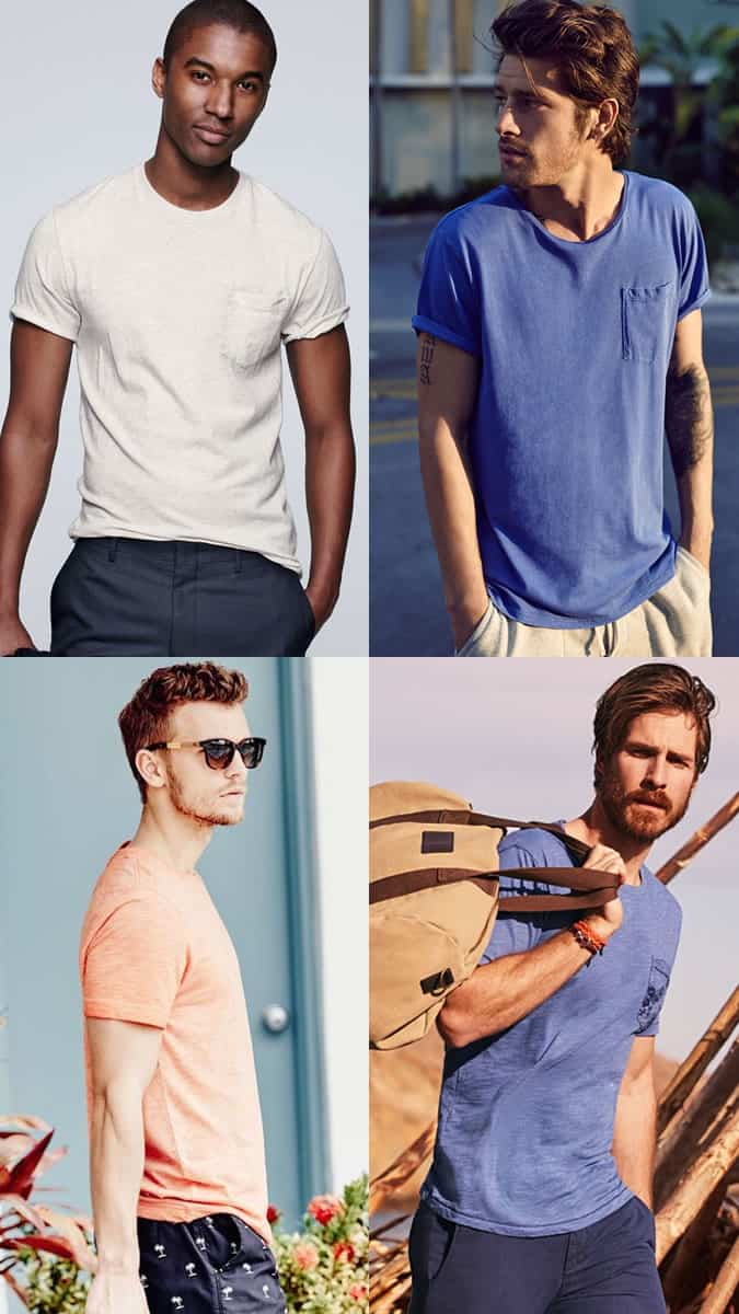 Men's Washed Out/Faded/Worn In T-Shirts Summer Outfit Inspiration Lookbook