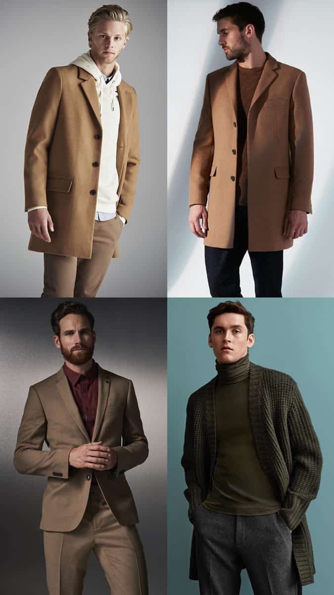 Men's Tonal Earth Tone outfit inspiration lookbook for autumn/winter 2019