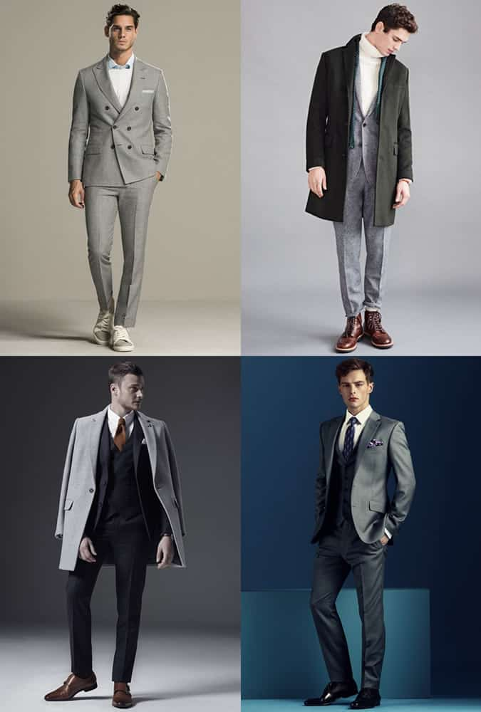 Men's Suits and Footwear Combinations Outfit Inspiration Lookbook