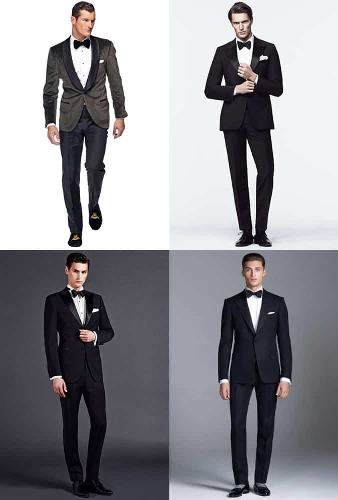 Men's Tuxedo and Footwear Combinations Outfit Inspiration Lookbook
