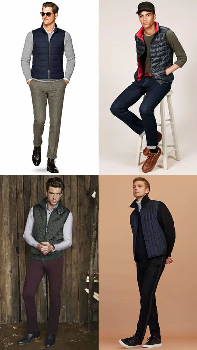 Men's Down Gilet Outfit Inspiration Lookbook For Autumn/Winter