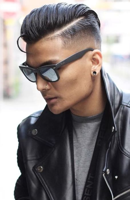 Men's Mid Fade With Slick-Back