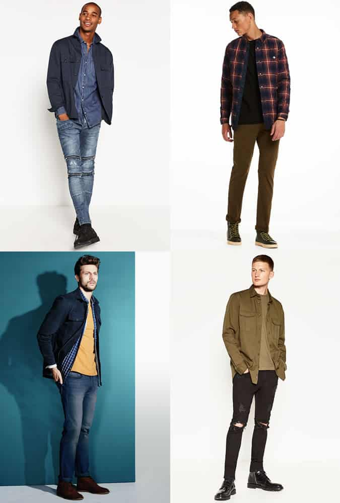Men's Overshirts and Shackets Outfit Inspiration Lookbook For Autumn/Winter