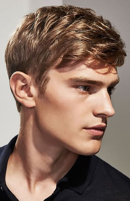 Men's Classic Side-Swept Fringe Haircut
