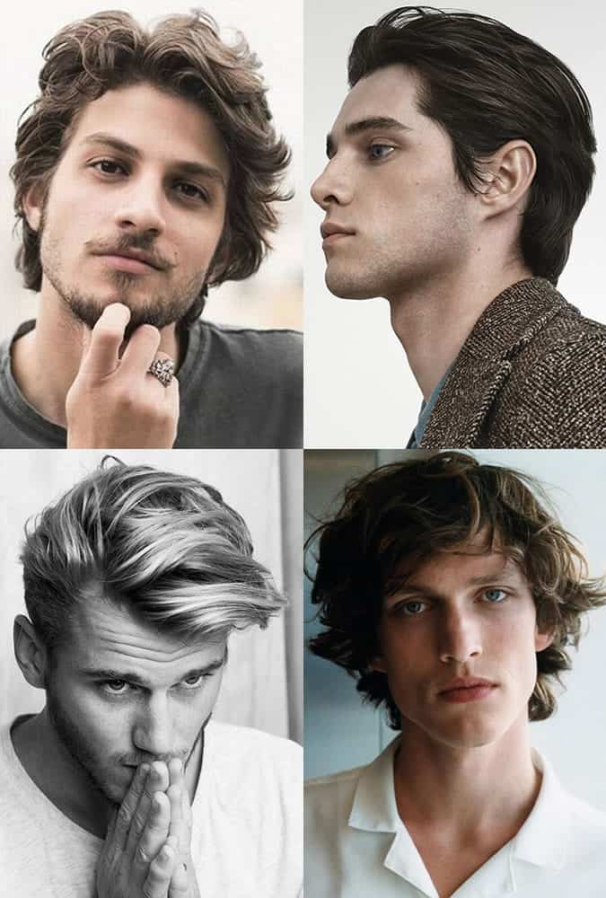 Men's Medium-Length Textured Hairstyles for Winter
