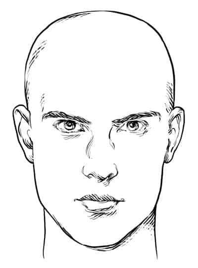 Rectangle/Oblong Face Shape - Men