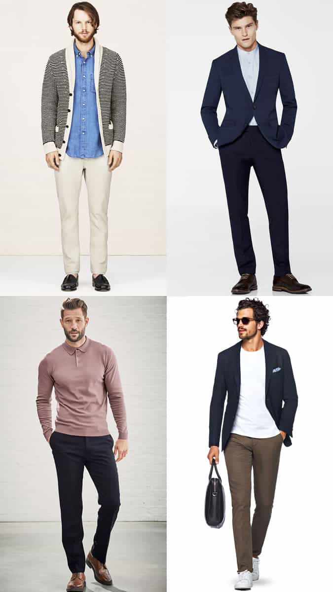 Men's Alternative Work Shirts Business-Casual Outfit Inspiration Lookbook