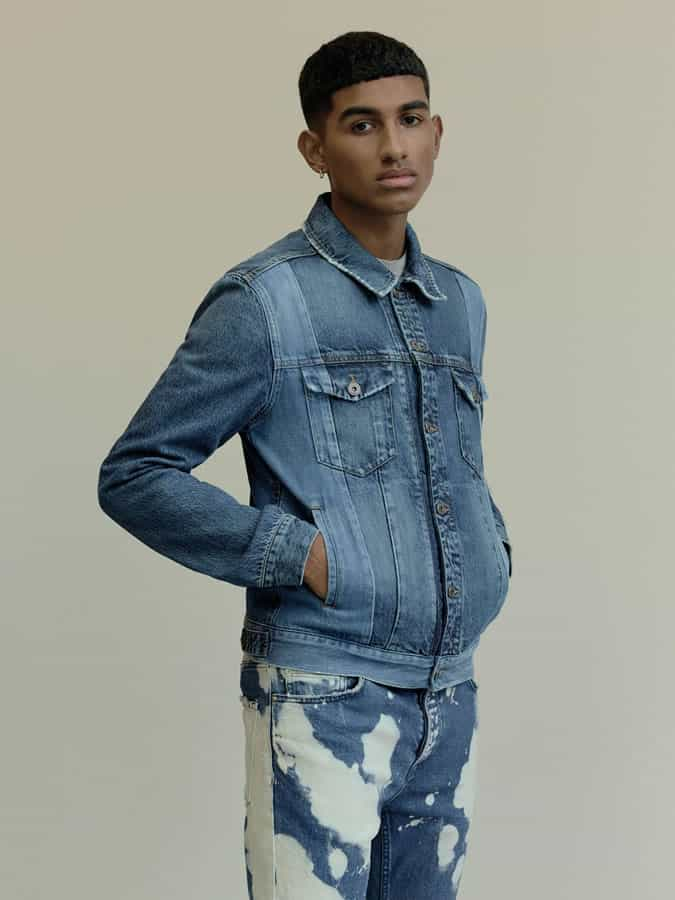 Double denim is a key look this season