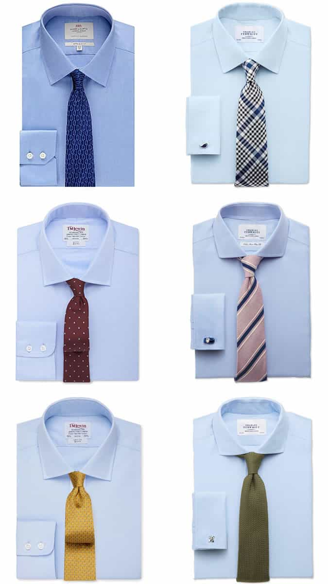 100 colors that go with light blue blue and white Blue suit shirt tie combinations