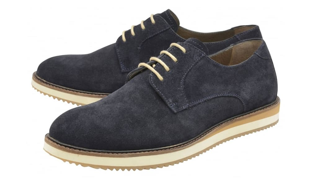 Frank Wright Shoes and Boots - Tom Navy Suede Derby Shoe