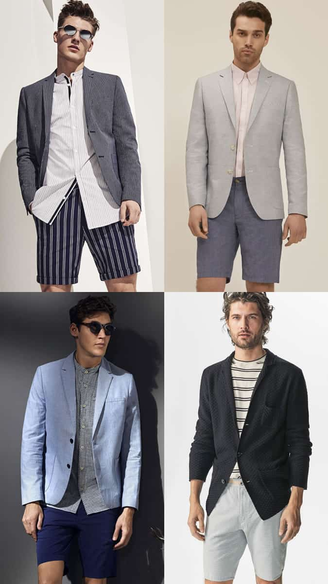 Men's Shorts and Blazers Outfit Combinations Lookbook