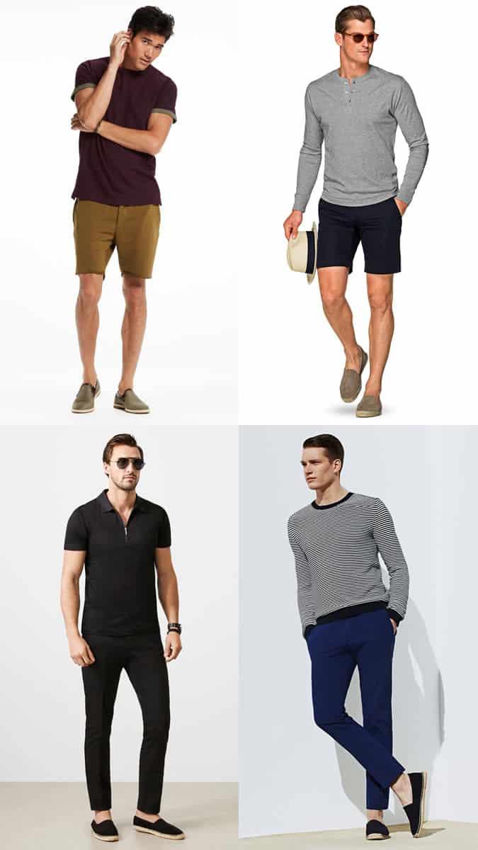 Men's Summer Espadrilles Outfit Inspiration Lookbook