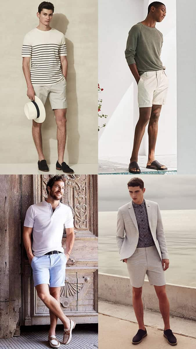 Tailored Shorts and Smart Shoes Combinations For Summer