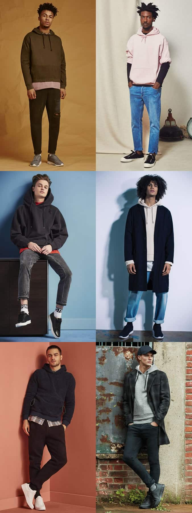 how to wear men's fashion and skate hoodies