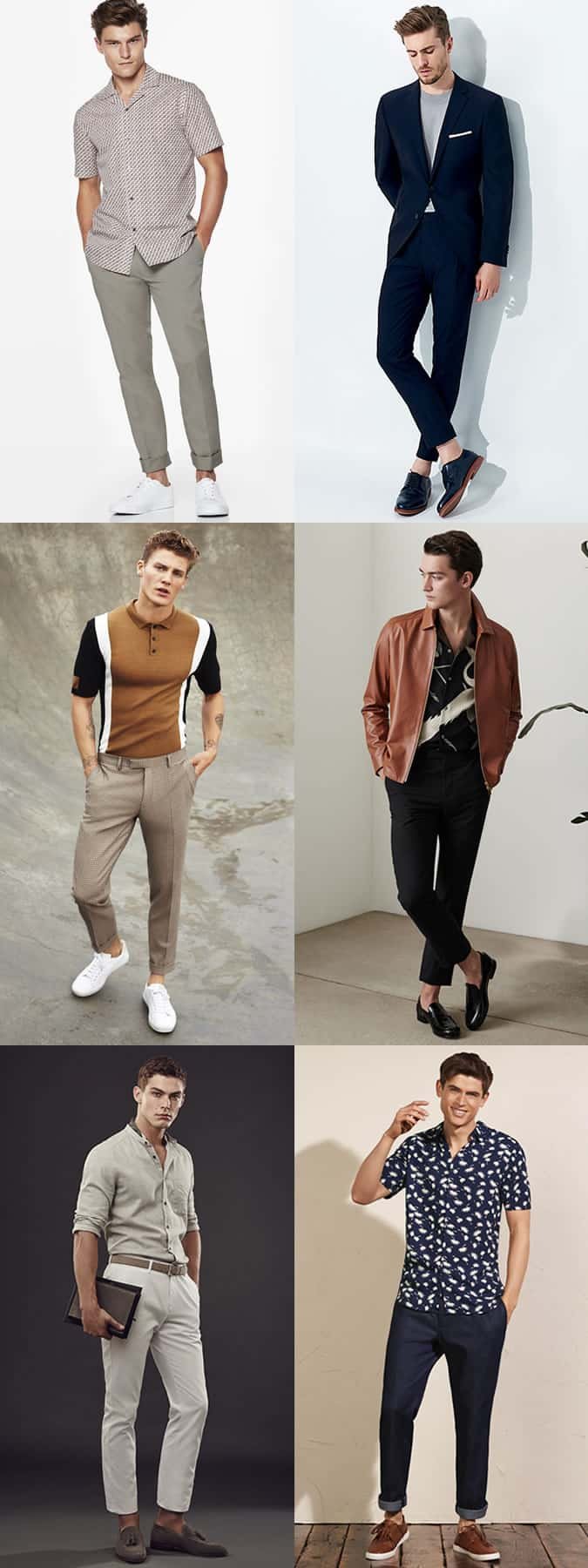 Men's Sockless/Mankle Summer Outfit Inspiration Lookbook
