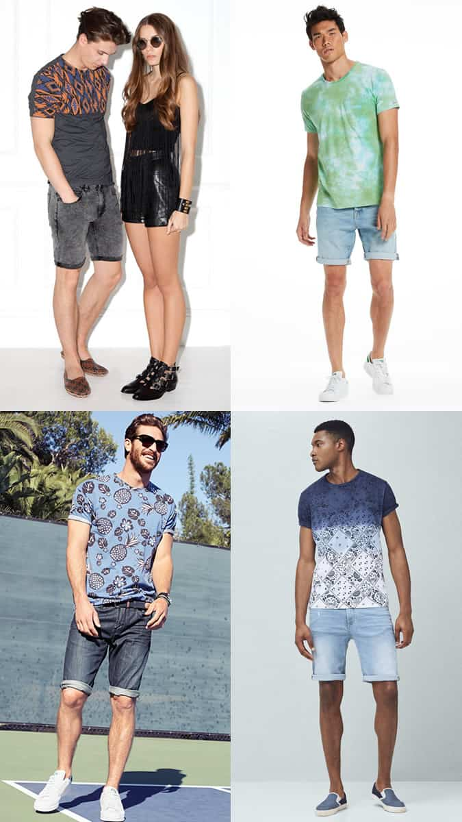 What to wear with denim shorts in summer or on holiday