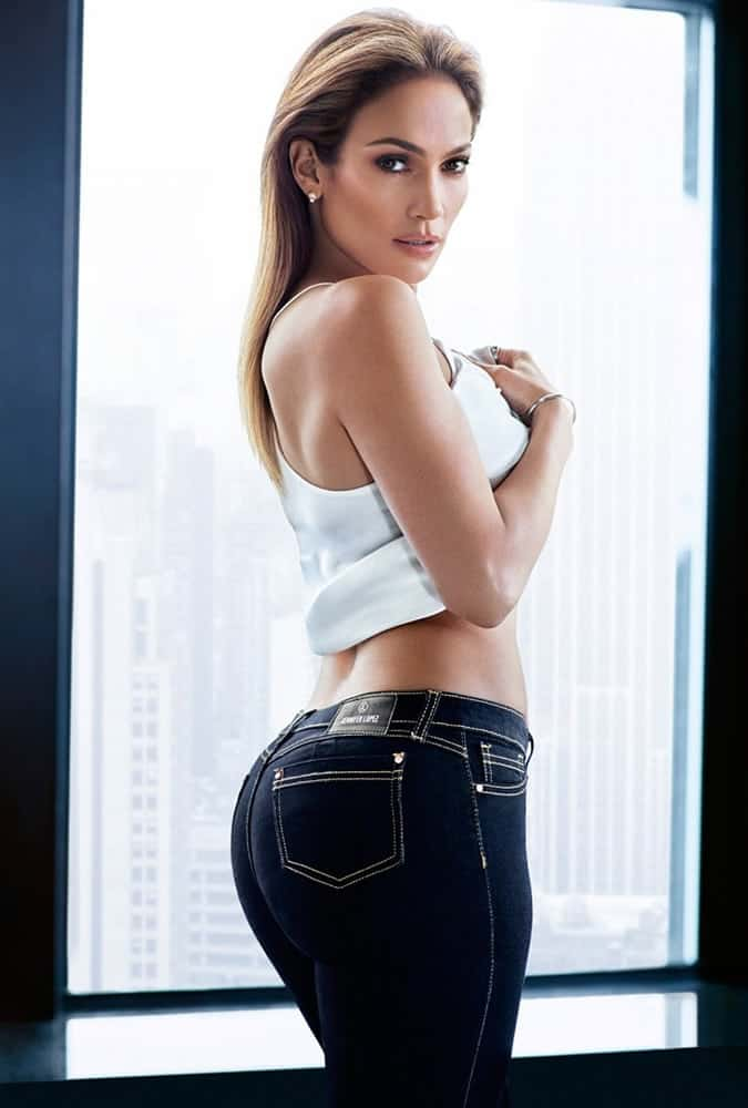 Jennifer Lopez wearing jeans